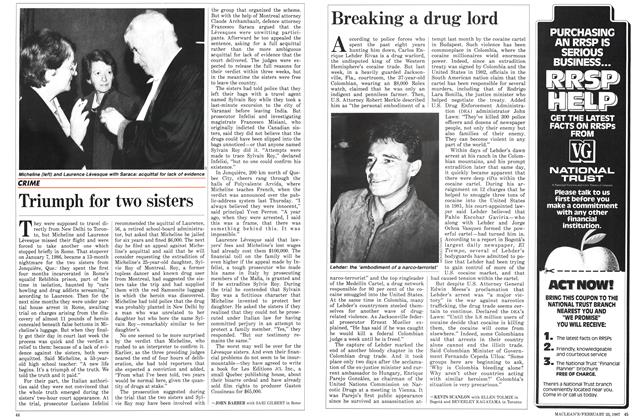 Article Preview: Breaking a drug lord, February 1987 | Maclean's