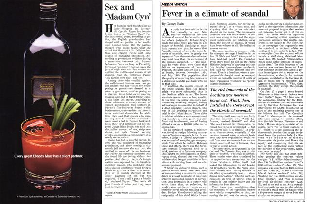 Article Preview: Sex and 'Madam Cyn', February 1987 | Maclean's