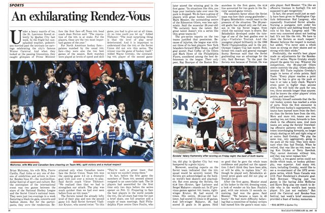 Article Preview: An exhilarating Rendez-Vous, February 1987 | Maclean's