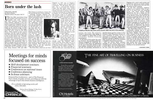 Article Preview: Born under the lash, February 1987 | Maclean's