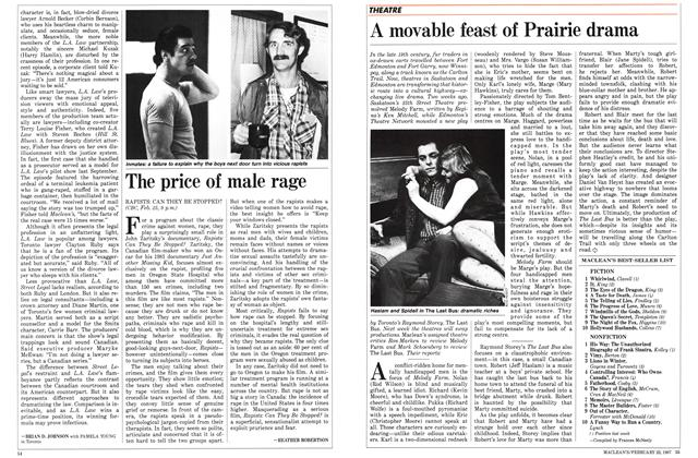 Article Preview: The price of male rage, February 1987 | Maclean's