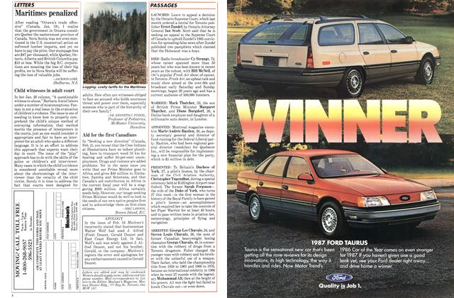 Article Preview: Maritimes penalized, February 1987   Maclean's