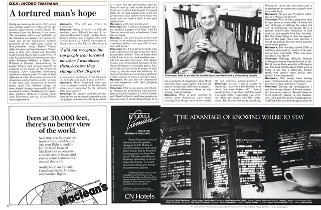 Article Preview: A tortured man's hope, February 1987 | Maclean's