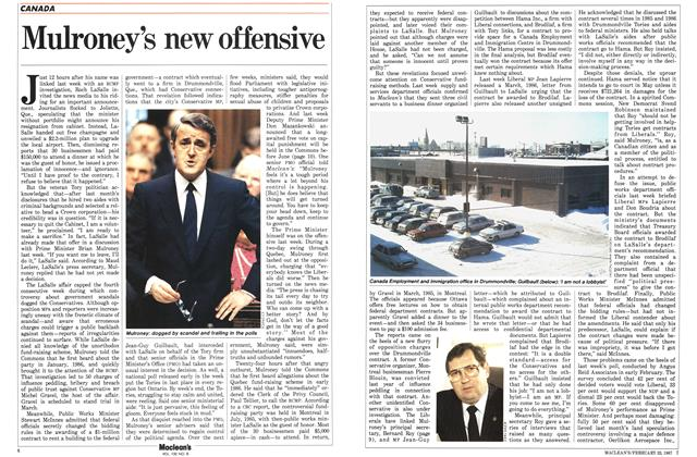 Article Preview: Mulroney's new offensive, February 1987 | Maclean's