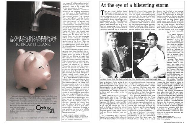 Article Preview: At the eye of a blistering storm, February 1987 | Maclean's