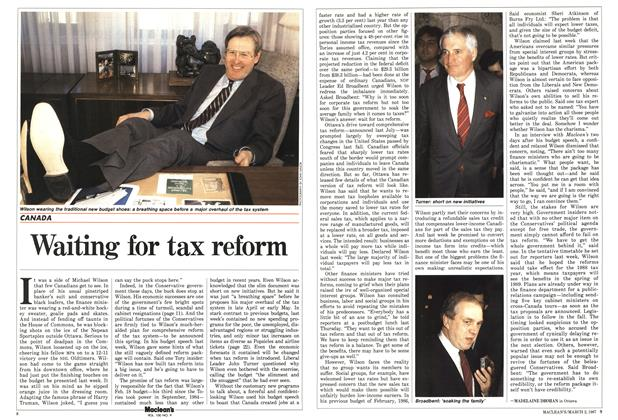 Article Preview: Waiting for tax reform, March 1987 | Maclean's