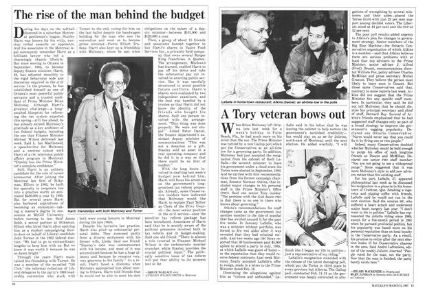 Article Preview: A Tory veteran bows out, March 1987 | Maclean's