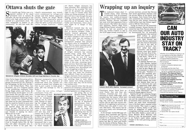 Article Preview: Wrapping up an inquiry, March 1987 | Maclean's