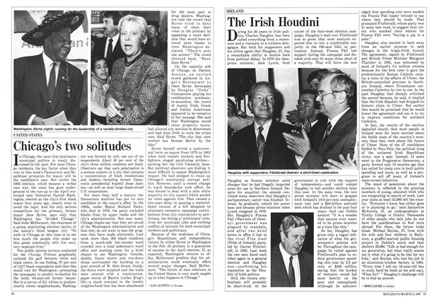 Article Preview: The Irish Houdini, March 1987 | Maclean's