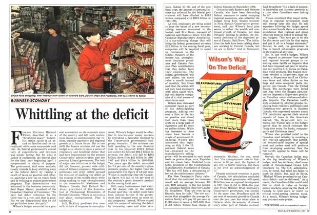 Article Preview: Whittling at the deficit, March 1987 | Maclean's