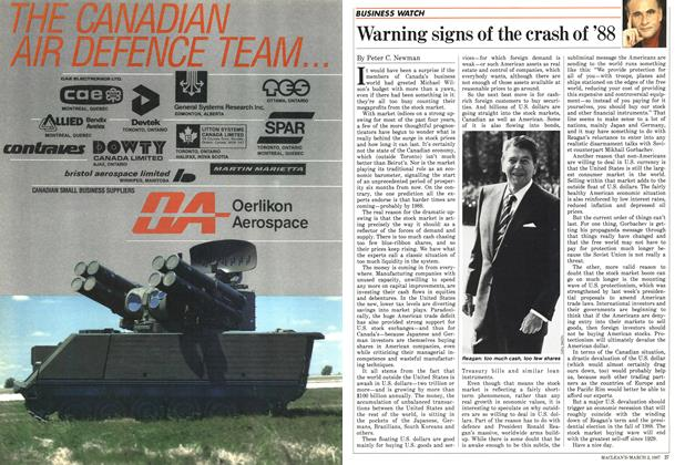 Article Preview: Warning signs of the crash of '88, March 1987 | Maclean's