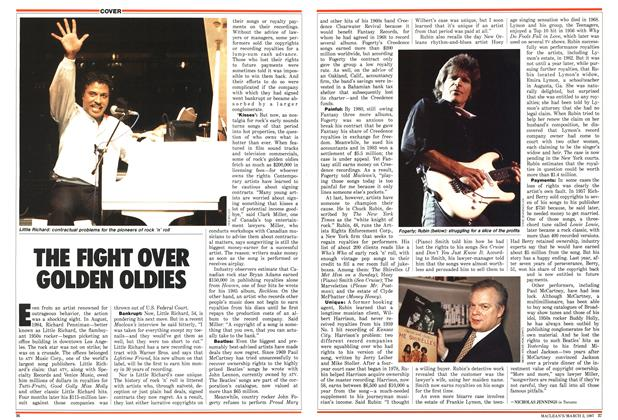 Article Preview: THE FIGHT OVER GOLDEN OLDIES, March 1987 | Maclean's