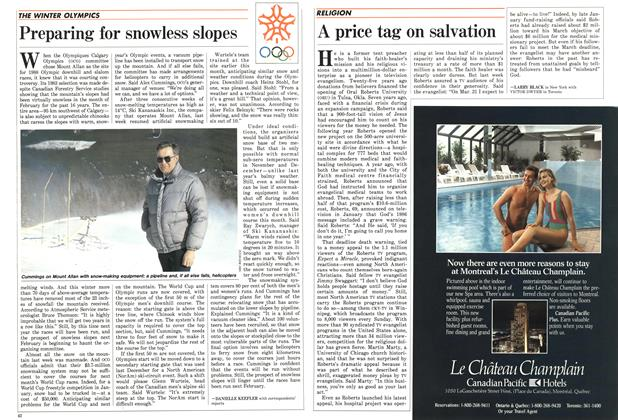 Article Preview: Preparing for snowless slopes, March 1987 | Maclean's