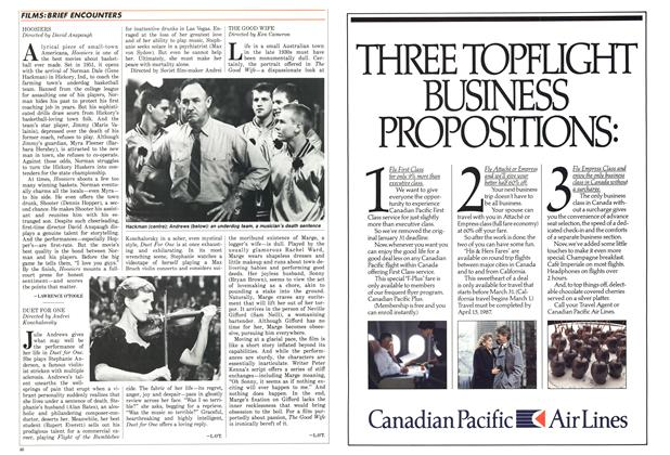 Article Preview: HOOSIERS, March 1987 | Maclean's