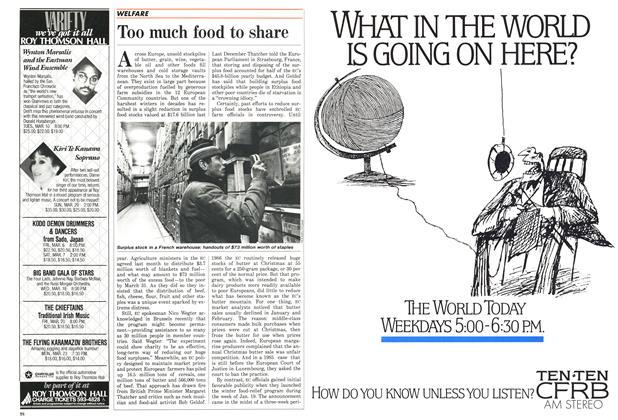 Article Preview: Too much food to share, March 1987 | Maclean's