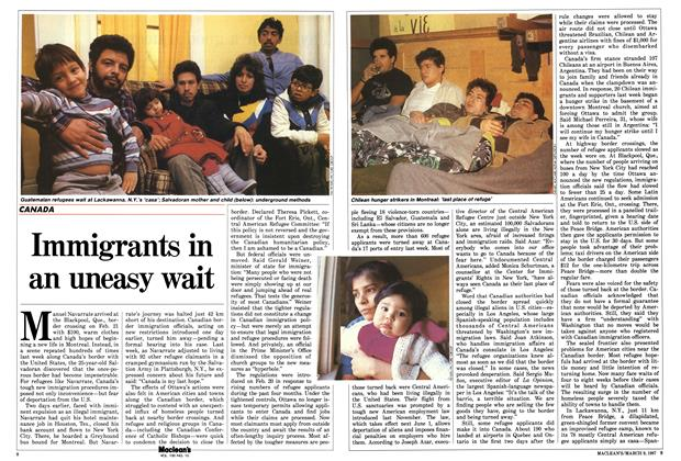 Article Preview: Immigrants in an uneasy wait, March 1987 | Maclean's