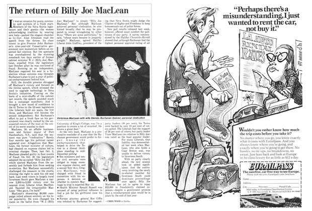 Article Preview: The return of Billy Joe MacLean, March 1987 | Maclean's