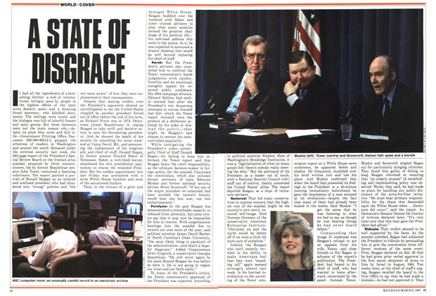 Article Preview: A STATE OF DISGACE, March 1987 | Maclean's