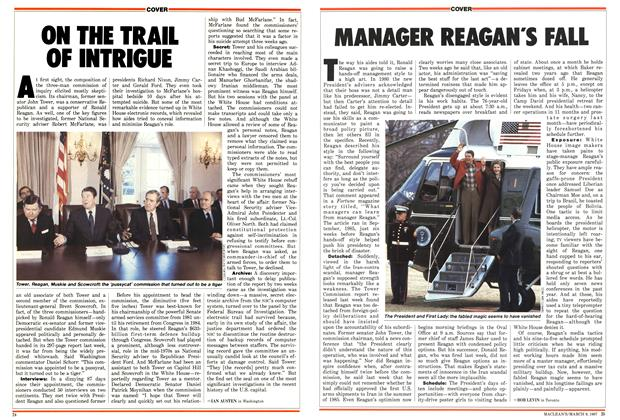 Article Preview: MANAGER REAGAN'S FALL, March 1987 | Maclean's