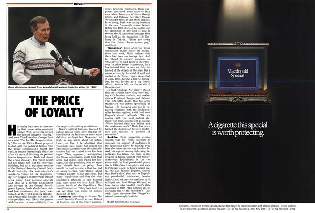 Article Preview: THE PRICE OF LOYALTY, March 1987 | Maclean's