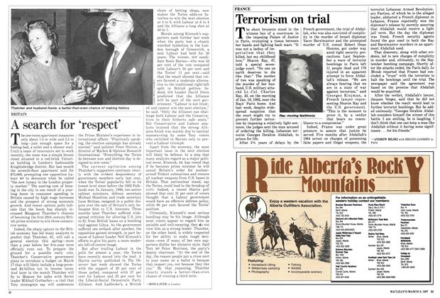 Article Preview: A search for 'respect', March 1987 | Maclean's