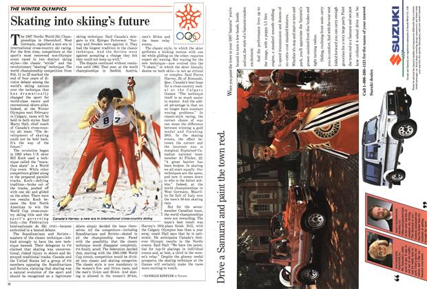 Article Preview: Skating into skiing's future, March 1987 | Maclean's