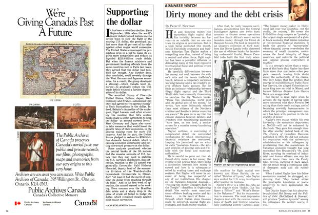 Article Preview: Supporting the dollar, March 1987 | Maclean's