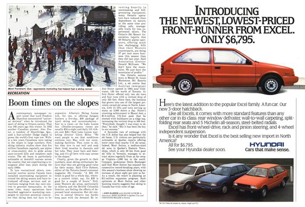 Article Preview: Boom times on the slopes, March 1987 | Maclean's