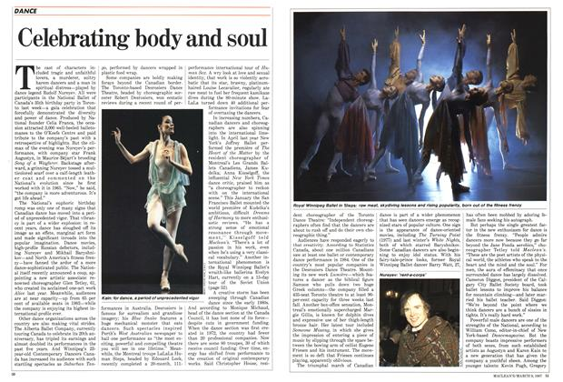 Article Preview: Celebrating body and soul, March 1987 | Maclean's