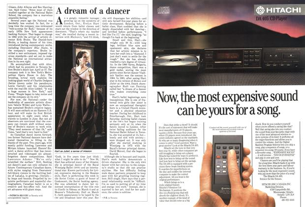 Article Preview: A dream of a dancer, March 1987 | Maclean's