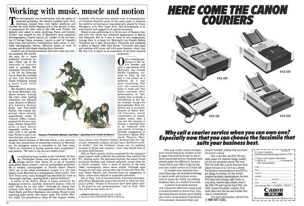 Article Preview: Working with music, muscle and motion, March 1987 | Maclean's