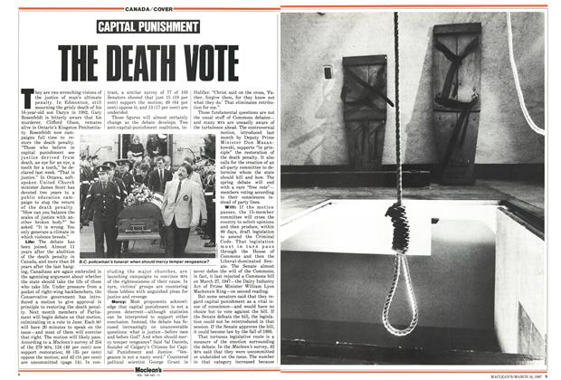 Article Preview: CAPITAL PUNISHMENT, March 1987 | Maclean's