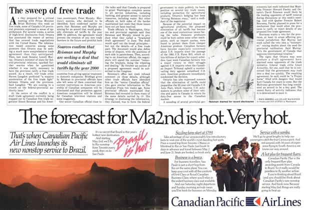 Article Preview: The sweep of free trade, March 1987 | Maclean's