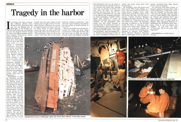 Article Preview: Tragedy in the harbor, March 1987 | Maclean's