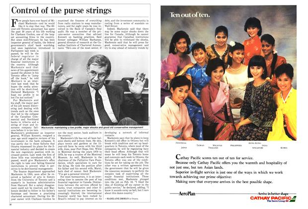 Article Preview: Control of the purse strings, March 1987 | Maclean's