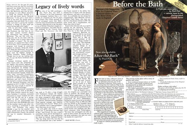 Article Preview: Legacy of lively words, March 1987 | Maclean's