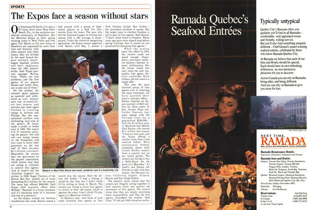 Article Preview: The Expos face a season without stars, March 1987 | Maclean's