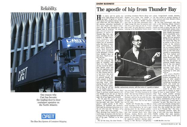 Article Preview: The apostle of hip from Thunder Bay, March 1987   Maclean's