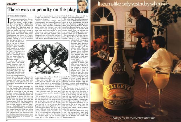 Article Preview: There was no penalty on the play, March 1987 | Maclean's