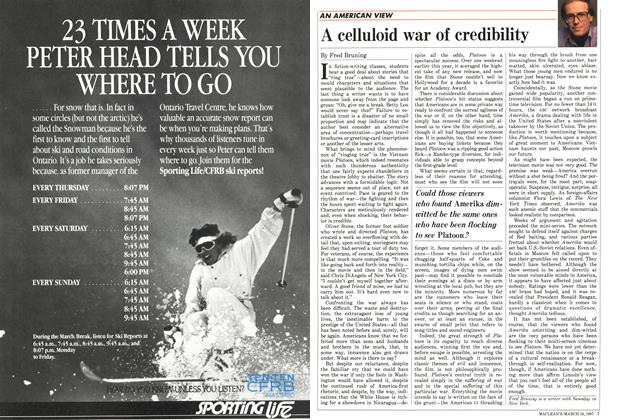 Article Preview: A celluloid war of credibility, March 1987 | Maclean's