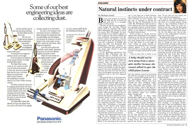 Article Preview: Natural instincts under contract, March 1987 | Maclean's