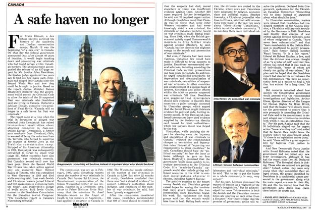 Article Preview: A safe haven no longer, March 1987 | Maclean's