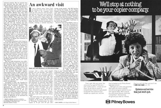 Article Preview: An awkward visit, March 1987 | Maclean's