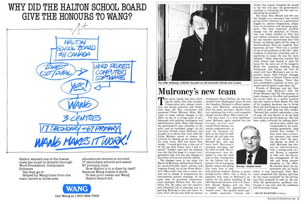 Article Preview: Mulroney's new team, March 1987 | Maclean's