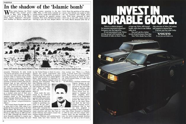 Article Preview: In the shadow of the 'Islamic bomb', March 1987 | Maclean's