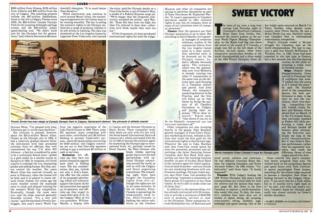 Article Preview: SWEET VICTORY, March 1987 | Maclean's