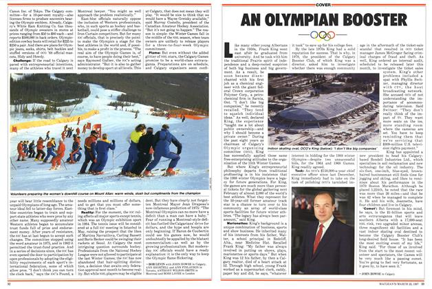 Article Preview: AN OLYMPIAN BOOSTER, March 1987 | Maclean's