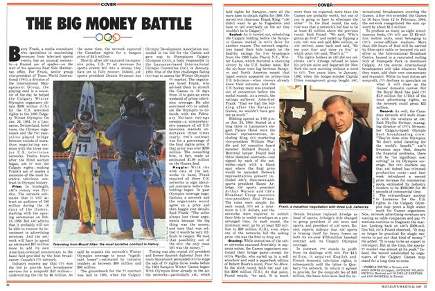 Article Preview: THE BIG MONEY BATTLE, March 1987   Maclean's