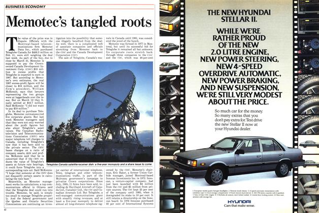 Article Preview: Memotec's tangled roots, March 1987 | Maclean's