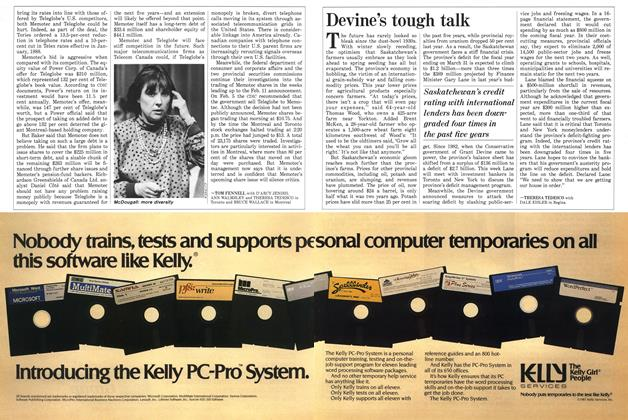 Article Preview: Devine's tough talk, March 1987 | Maclean's